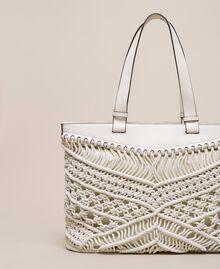 Borsa shopper in crochet Bianco Antique White Donna 201TO8130-04