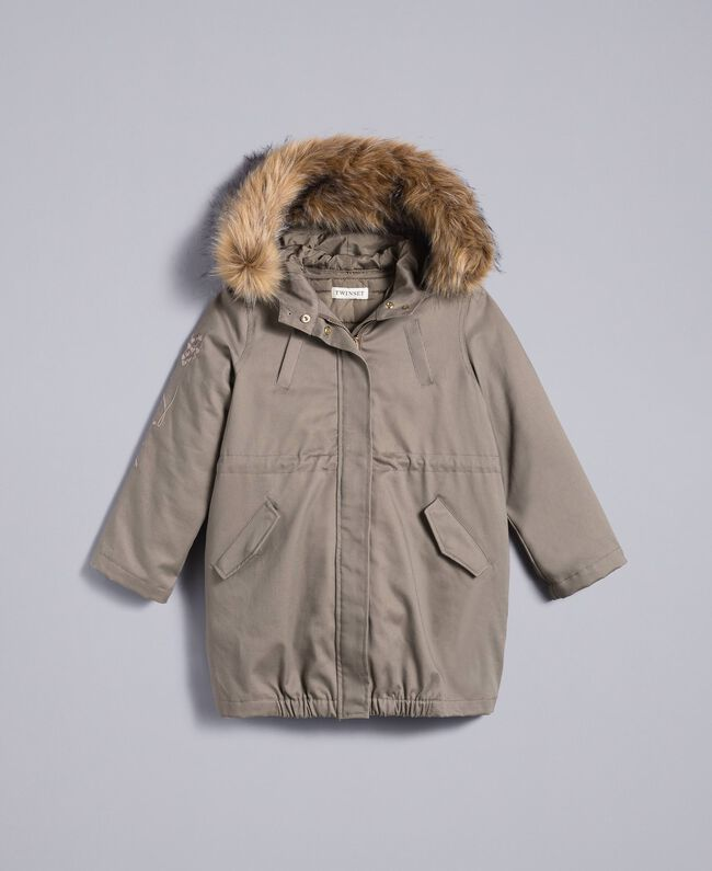 Parka aus Canvas Olive Kind GA82A1-01