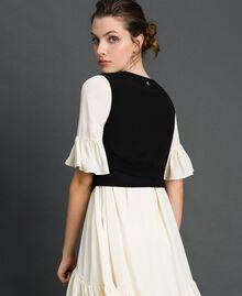 Dévoré velvet cropped waistcoat Black Woman 192MP2251-02