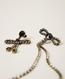 Asymmetric earrings with bows Black Diamond Grey Woman 202TA4302-01