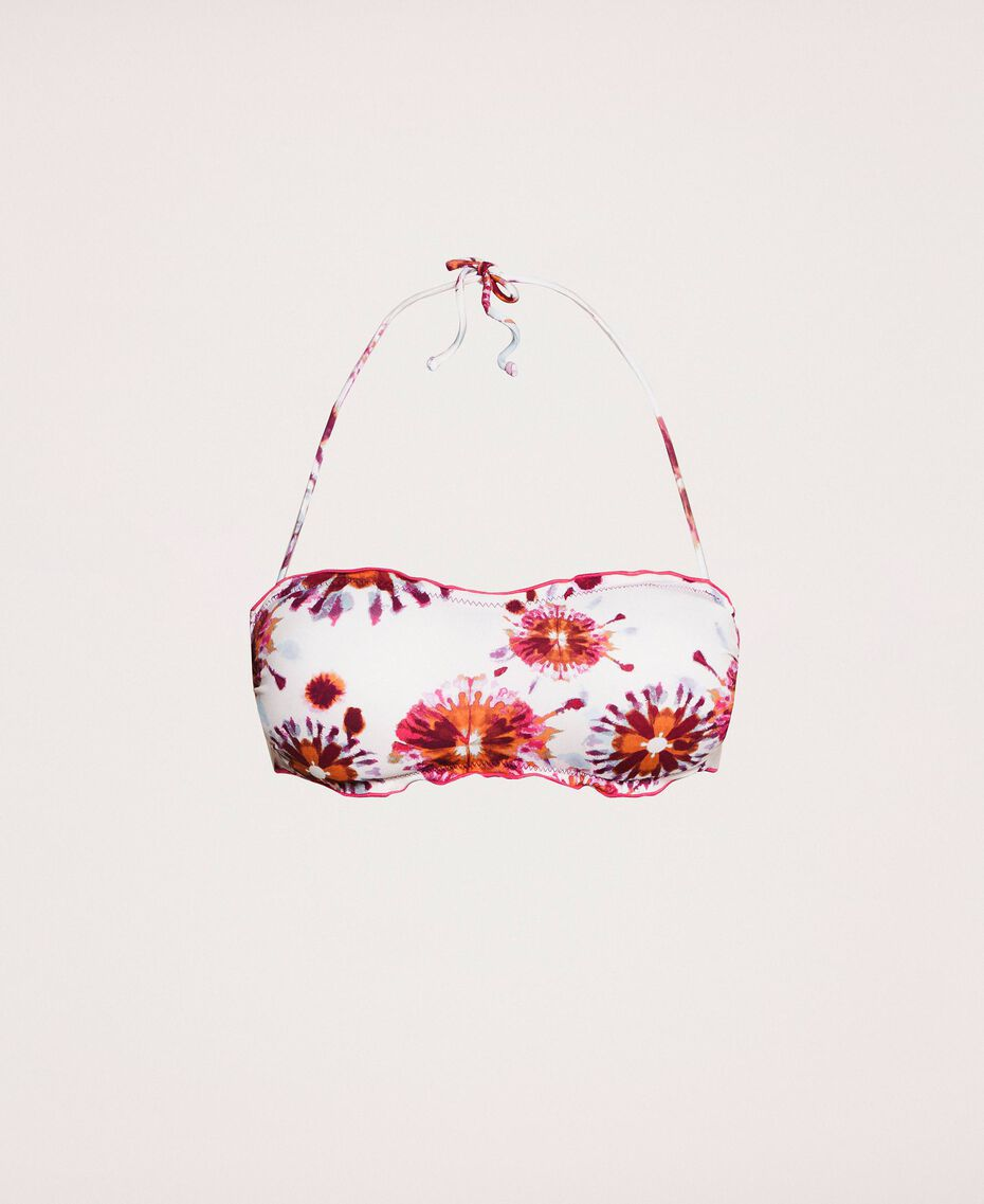 Soutien-gorge de bain bandeau avec imprimé Imprimé Zèbre Flirty Rose Femme 201LBMG11-0S