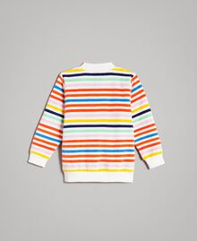 Multicolour striped sweatshirt Multicolour Striping Child 191GB2220-0S
