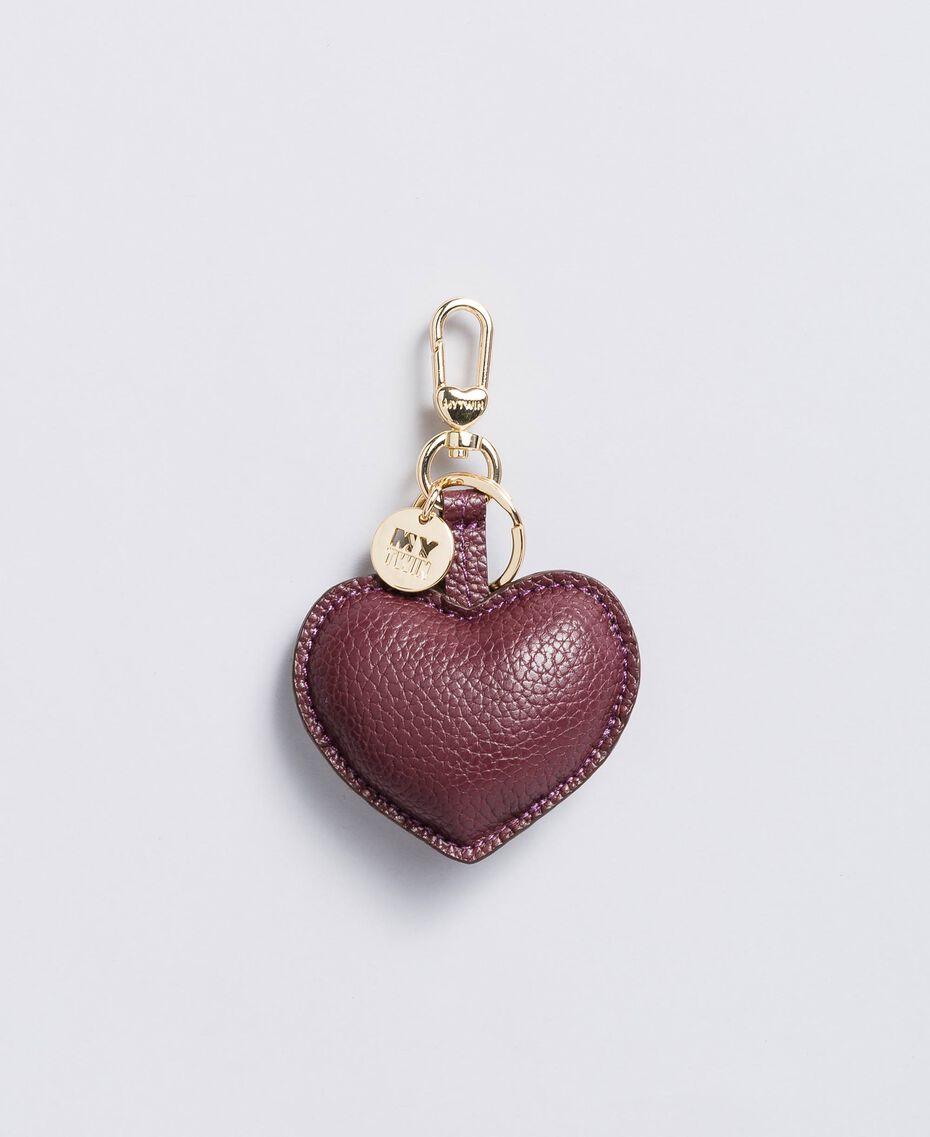 Porte-clés cœur en similicuir Bordeaux Femme RA8TJC-01