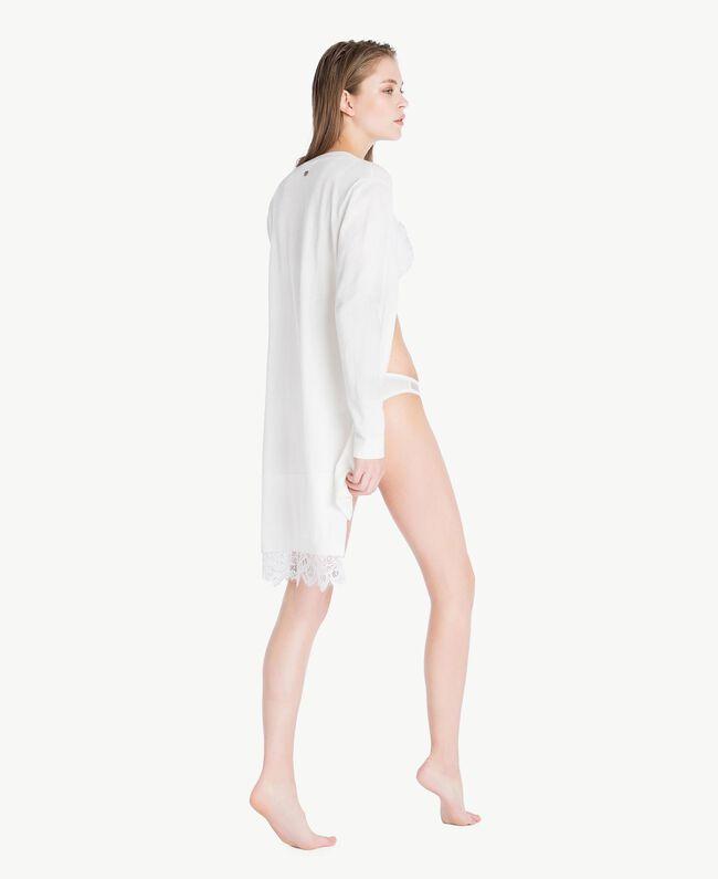 Cardigan long coton Ivoire Femme LS8CBB-04