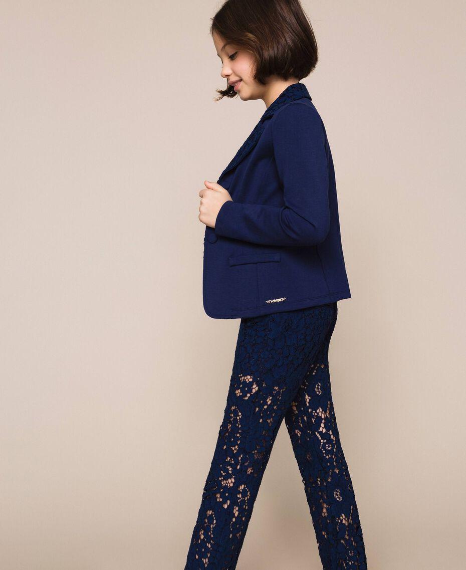 Macramé lace blazer Night Blue Child 201GJ2QL1-02
