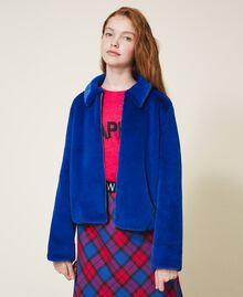 Куртка из искусственного меха Темно-васильковый Pебенок 202GJ281A-02