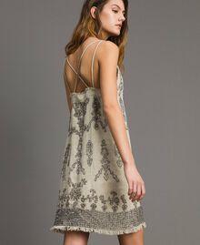 Robe en lin ornée de perles et de sequins Noir Femme 191TT2063-01