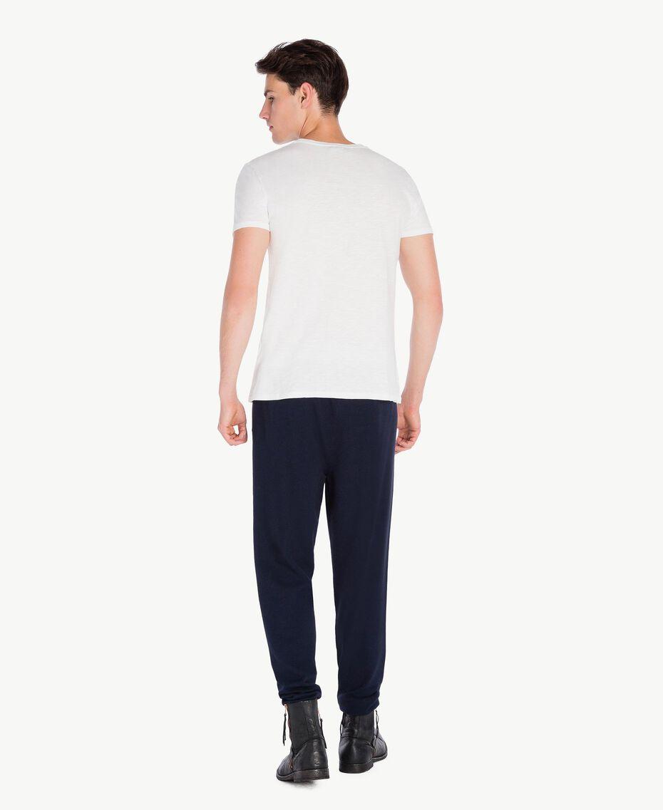 T-Shirt aus Baumwolle Weiß Männlich UA72FA-03