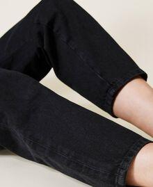 Carrot fit high waist jeans Black Denim Woman 212TP232C-05