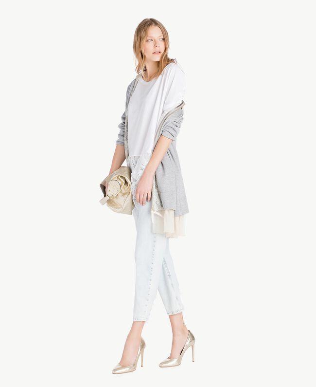 Maxi sweat-shirt Gris clair chiné Femme PS82UP-05