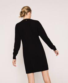 Robe décorée de franges en strass Noir Femme 201TP3080-04