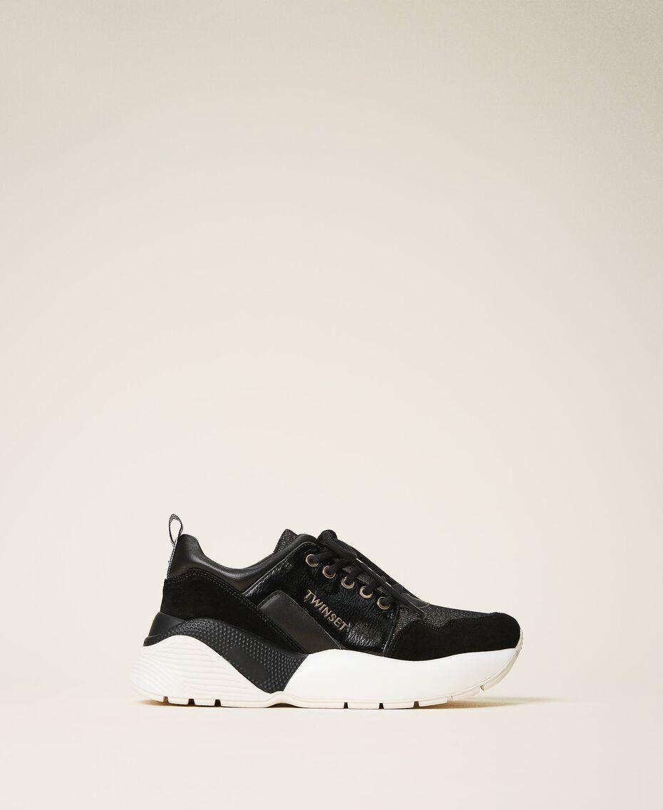 Chaussures de running avec logo Noir Femme 202TCP036-01
