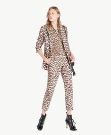 Animal print trousers Animal Print Woman PS824F-05