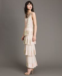 Georgette sequin long dress Bud Pink Woman 191TP2580-03