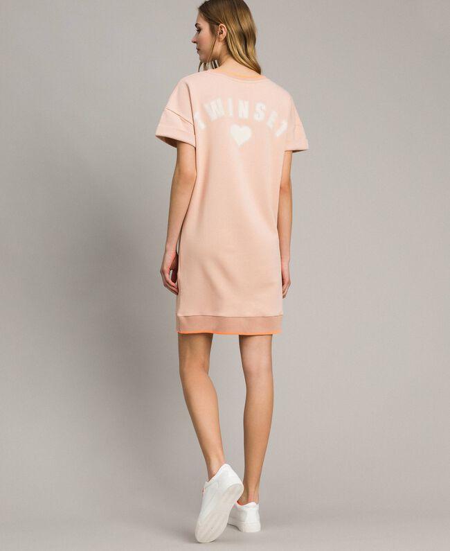 Fleece mini dress Delicate Pink Woman 191LL21AA-04