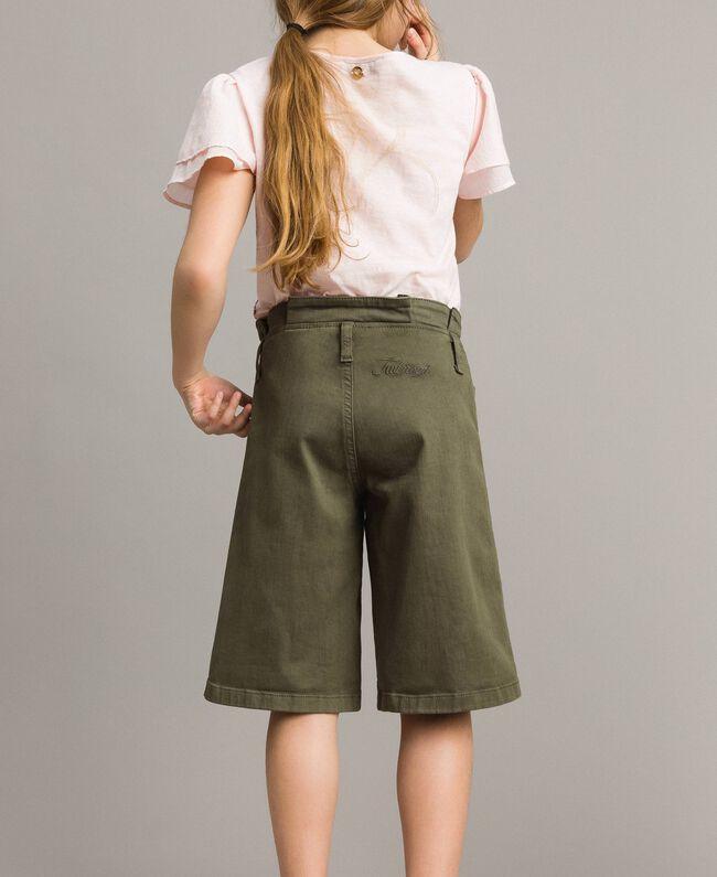 Cotton bull bermuda shorts Tundra Green Child 191GJ2493-04