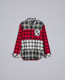 Camicia in flanella tartan Multicolor Plaid Flannel Uomo UA82EA-0S