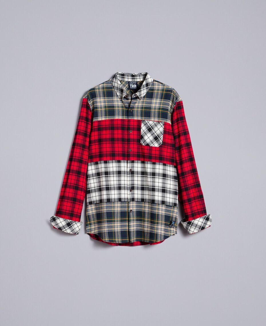 Camicia in flanella tartan Multicolor Plaid Flannel Uomo UA82EA-0S
