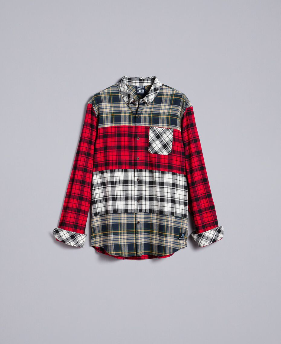 Tartan flannel shirt Multicolour Plaid Flannel Man UA82EA-0S