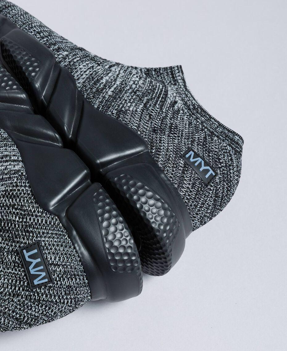 Sneakers slip on en maille Gris foncé chiné Homme UA8C91-01