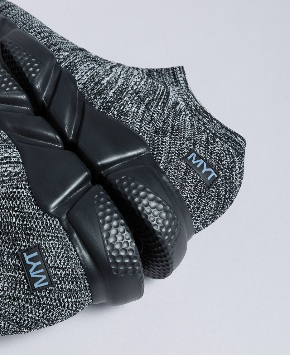 Knitted slip on sneakers Dark Gray Mélange Man UA8C91-01