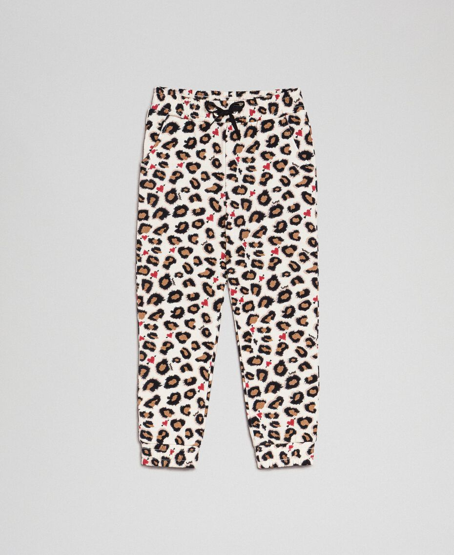 Animal print trousers with hearts Leopard Print Child 192GJ2330-0S