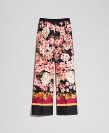 Palazzo trousers with floral scarf print Scarf Print Woman 192TP2605-0S