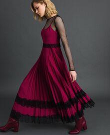 "Lace slip dress Bicolour Black / ""Snow"" White Woman 192TP2282-01"