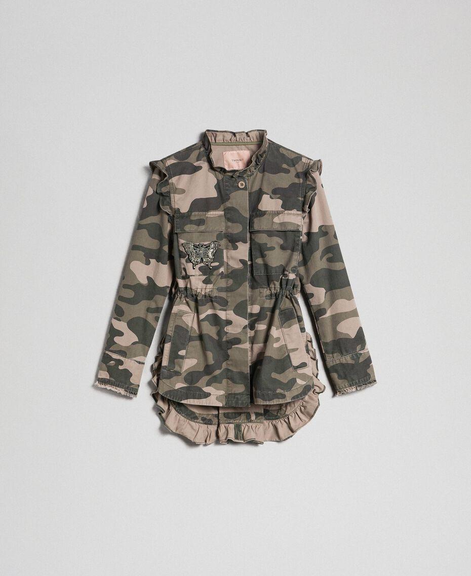 Blouson avec imprimé camouflage et broderies Imprimé Camouflage Femme 192TP2032-0S