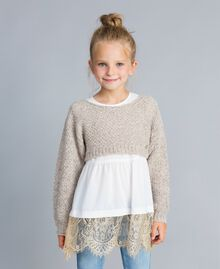 Pull court en lurex Or Lurex Enfant GA83FN-02