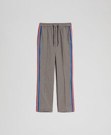 Houndstooth palazzo trousers Lily Houndstooth / Creme Caramel Woman 192MT2051-0S