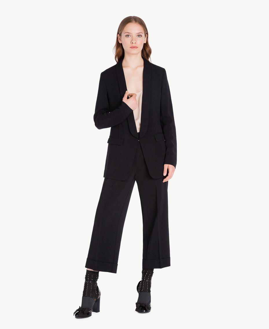 Pantalon cropped Noir Femelle PA72TB-02
