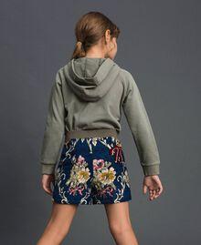 "Floral brocade shorts ""Mediterranean"" Blue Brocade Jacquard Child 192GJ2445-03"