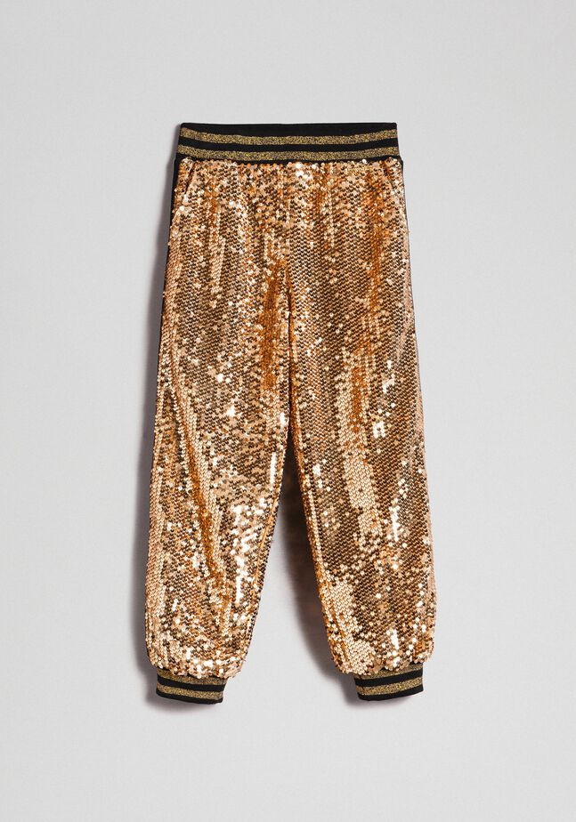 Pantalon de jogging en velours avec sequins