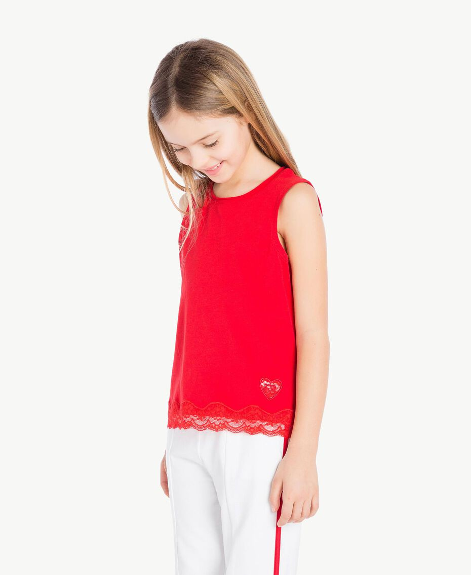 Jersey tank top Pomegranate Red Child GS82BD-03