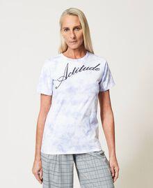 "Regular tie-dye t-shirt ""Lilac Sky"" Purple Woman 211MT2630-05"