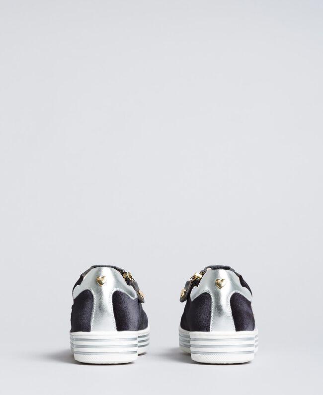 Sneakers in velluto Grigio Grafite Bambina HA88DN-03