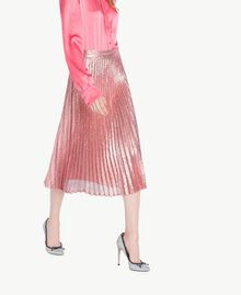 All over sequin skirt Hydrangea Pink Woman PS823V-02
