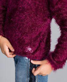Pull en point fourrure Violet Raisin Doux Enfant GA83D2-04