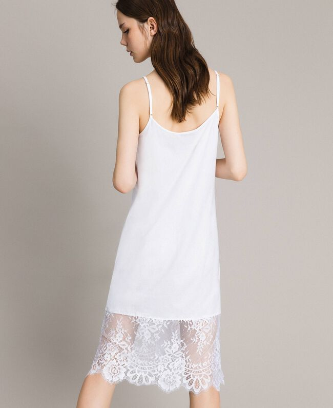 Lace slip dress Black Woman 191TP260H-04