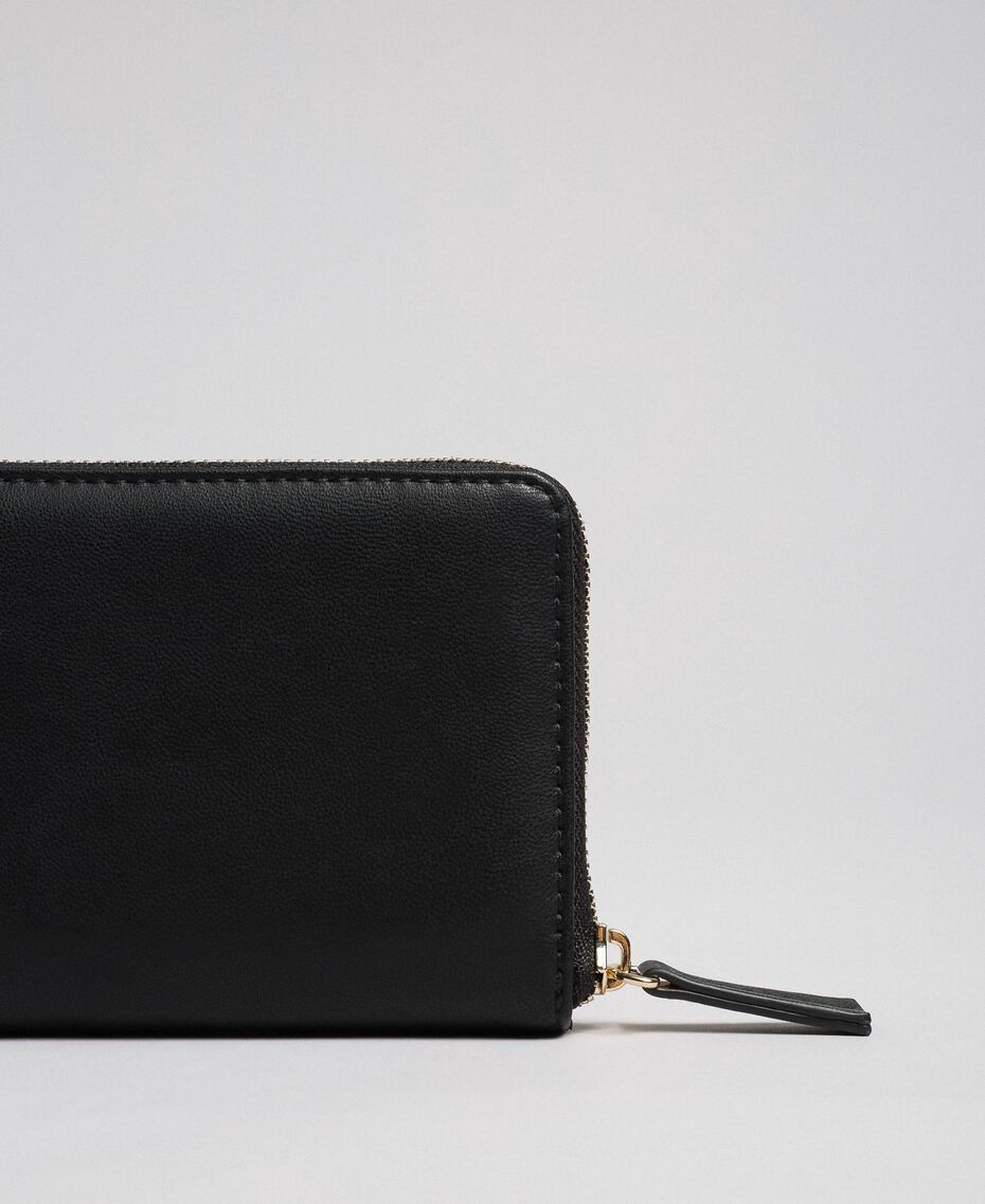 Small faux leather wallet Black Woman 192MA7088-03