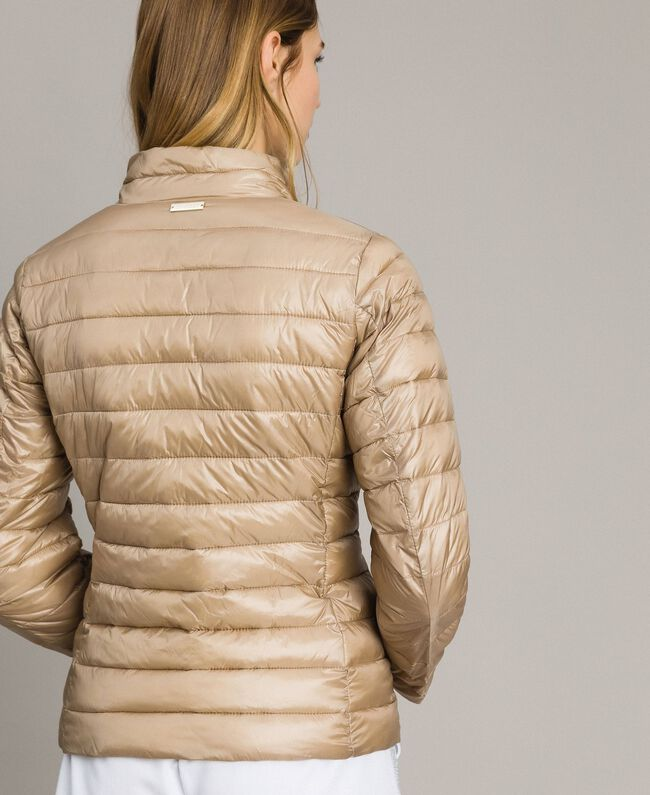 """Quilted puffer jacket """"Milkway"""" Beige Woman 191LL24CC-03"""