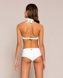 Triangle bikini top with tulle Black Woman 201LBM733-03