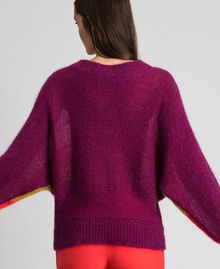 Multicolour stripe mohair jumper Multicolour Stripe Red Velvet Woman 192TT3272-03
