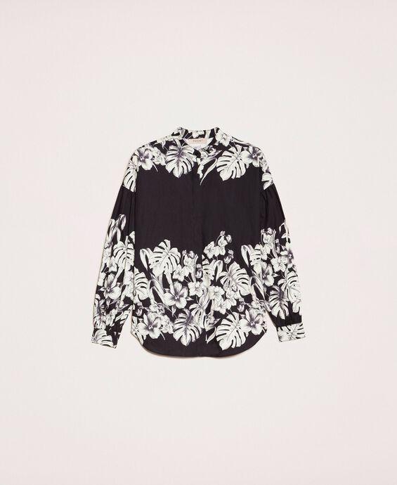 Поплиновая рубашка с цветочным мотивом