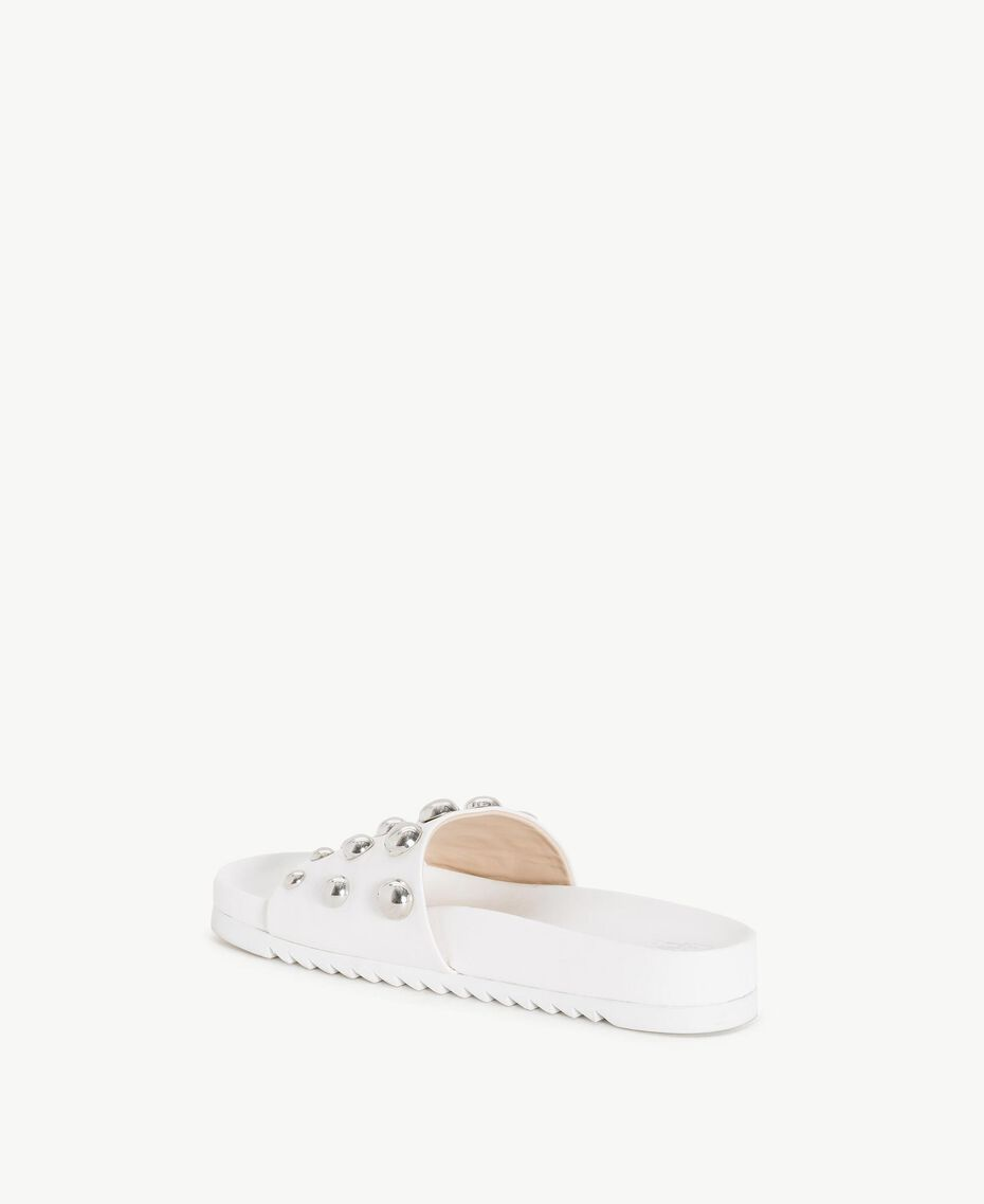 TWINSET Studded slippers White Woman DS8PEA-03
