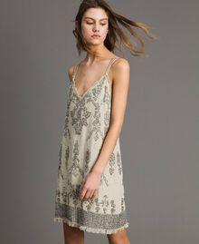 Robe en lin ornée de perles et de sequins Noir Femme 191TT2063-03