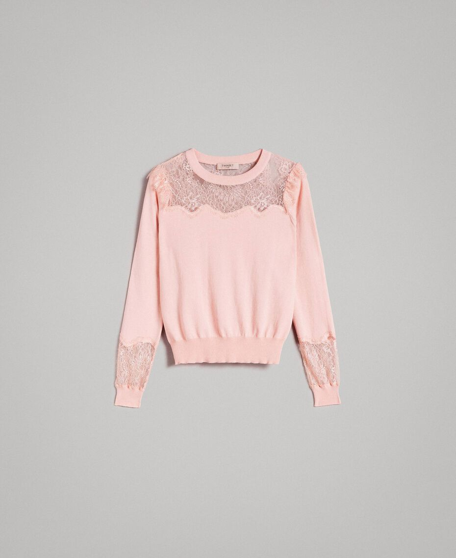 Top with lace details Pink Pearl Woman 191TP3031-0S