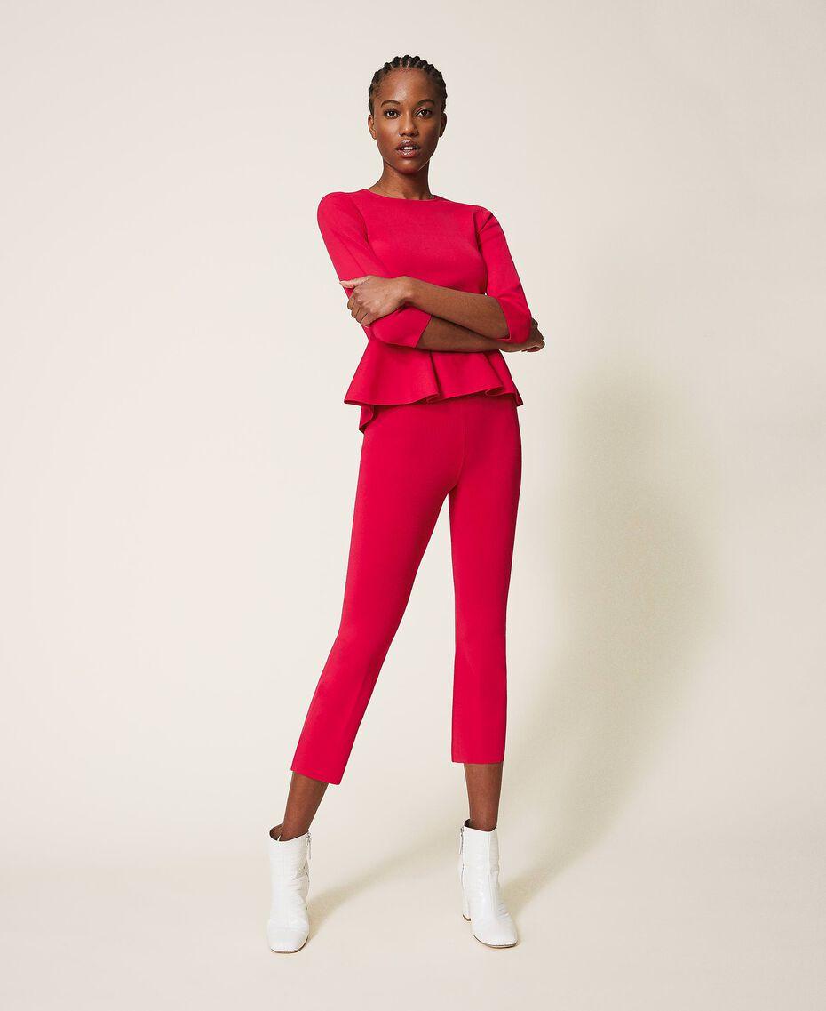 """Трикотажные брюки фуксия """"светлая вишня"""" женщина 202MP3104-01"""