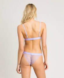 Striped Brazilian briefs Lilac Mini Flowers Print Woman 191LL6A77-03